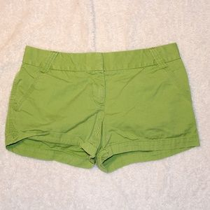 J. Crew Green Classic Twill Chino Shorts 10